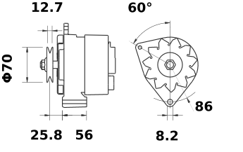 Генератор AAK3893 (MG 464, 11.204.296, IMA304296) - схема