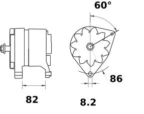 Генератор AAK4891 (MG 175, 11.204.579, IMA304579) - схема