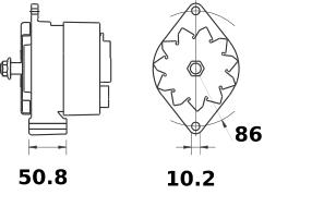 Генератор AAK4984 (MG 135, 11.204.772, IMA304772) - схема
