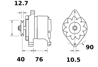 Генератор AAK3161 (MG 583, 11.209.402, IMA309402) - схема