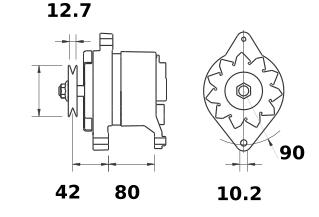 Генератор AAK3177 (IA9014) - схема