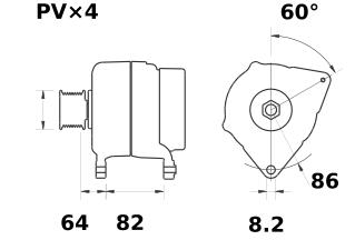 Генератор AAK5573 (MG 454, 11.209.410, IMA309410) - схема