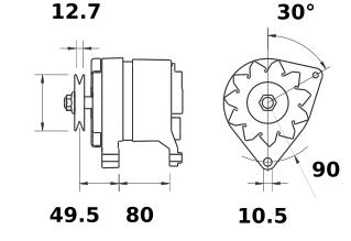 Генератор AAK3165 (IA9022) - схема