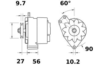 Генератор AAN3109 (MG 492, 11.209.418, IMA309418) - схема