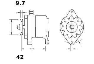 Генератор AAK3178 (IA9410) - схема