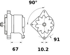 Генератор AAN3110 (MG 494, 11.209.420, IMA309420) - схема