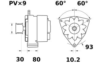 Генератор AAN3112 (MG 587, 11.209.422, IMA309422) - схема