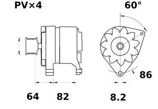 Генератор AAK3179 (MG 507, 11.209.425, IMA309425) - схема