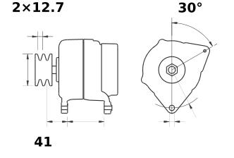 Генератор AAK5575 (MG 472, 11.209.426, IMA309426) - схема
