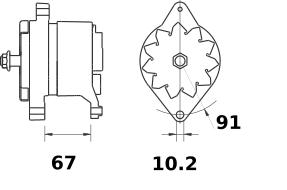 Генератор AAN3115 (MG 184, 11.209.435, IMA309435) - схема
