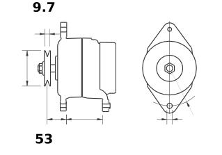 Генератор AAK5722 (MG 447, 11.209.439, IMA309439) - схема