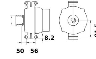 Генератор AAN5572 (MG 448, 11.209.440, IMA309440) - схема