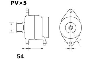 Генератор AAK5723 (MG 451, 11.209.441, IMA309441) - схема