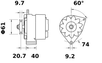 Генератор AAG1132 (IA9438) - схема