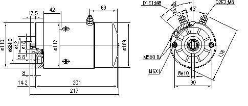 Электродвигатель AMJ5633 (MM 136, 11.212.067, IMM302067) - схема