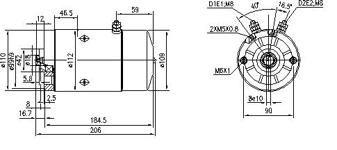 Электродвигатель AMJ5654 (MM 218, 11.212.090, IMM302090) - схема