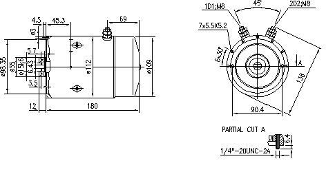 Электродвигатель AMJ4603 (MM 222, 11.212.106, IMM302106) - схема