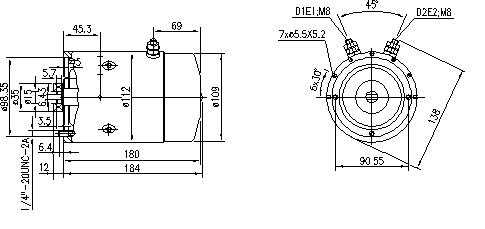 Электродвигатель AMJ5690 (MM 88, 11.212.169, IMM302169) - схема