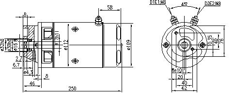 Электродвигатель AMJ5518 (MM 326, 11.212.229, IMM302229) - схема
