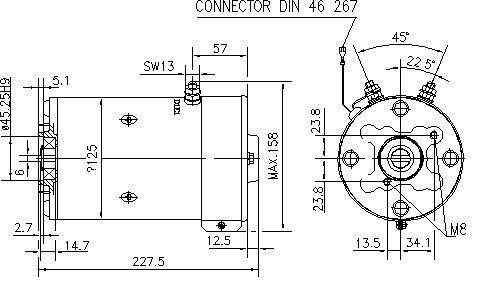 Электродвигатель AMK5633 (MM 53, 11.212.306, IMM302306) - схема