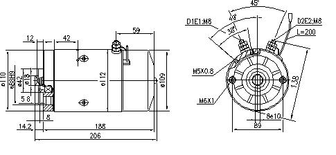 Электродвигатель AMJ5132 (MM 207, 11.212.492, IMM302492) - схема