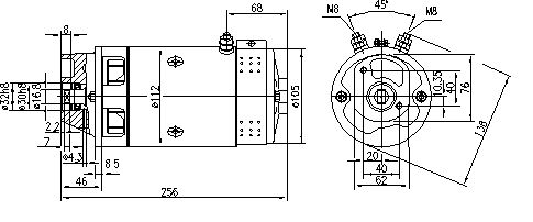 Электродвигатель AMJ5145 (MM 287, 11.212.600, IMM302600) - схема