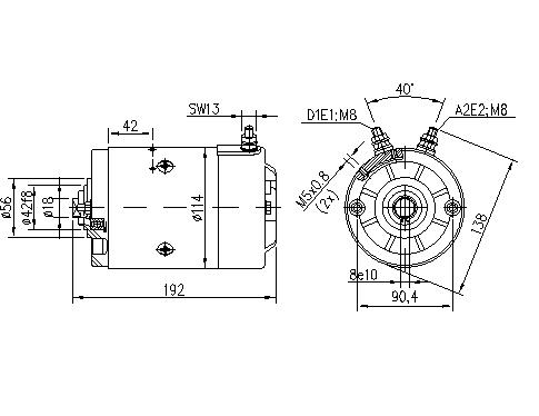 Электродвигатель AMJ5238 (11.212.864, IMM302864) - схема