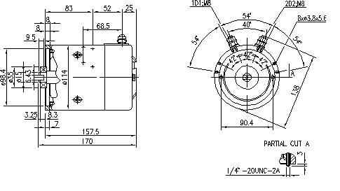 Электродвигатель AMJ4662 (MM 168, 11.212.619, IMM302619) - схема