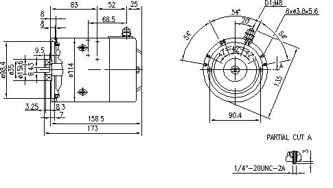 Электродвигатель AMJ4663 (MM 169, 11.212.621, IMM302621) - схема