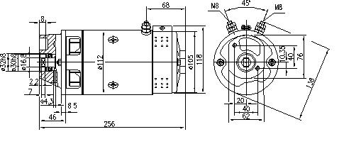 Электродвигатель AMJ5221 (MM 63, 11.212.628, IMM302628) - схема