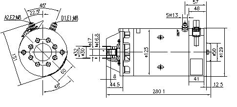 Электродвигатель AMK5668 (MM 331, 11.212.635, IMM302635) - схема