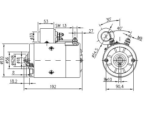 Электродвигатель AMJ5197 (MM 327, 11.212.737, IMM302737) - схема