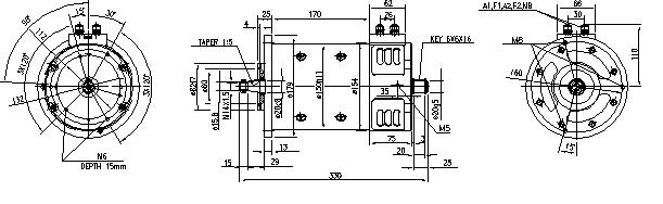 Электродвигатель AMP2601 (MM 184, 11.212.771, IMM302771) - схема