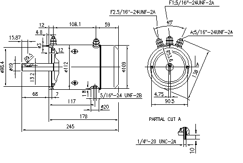 Электродвигатель AMJ4689 (MM 141, 11.212.797, IMM302797) - схема