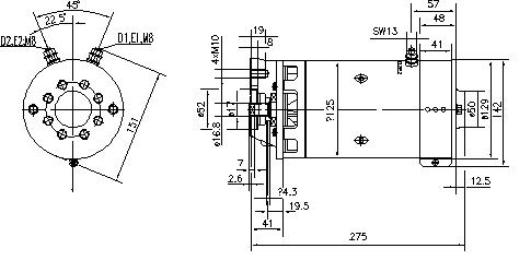 Электродвигатель AMK5682 (MM 203, 11.212.829, IMM302829) - схема