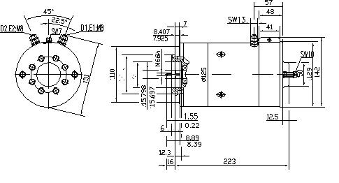 Электродвигатель AMK5684 (MM 229, 11.212.843, IMM302843) - схема