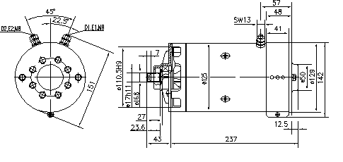 Электродвигатель AMK5685 (MM 227, 11.212.854, IMM302854) - схема