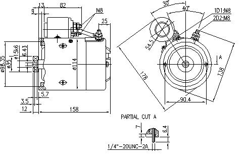 Электродвигатель AMJ4708 (MM 307, 11.212.918, IMM302918) - схема