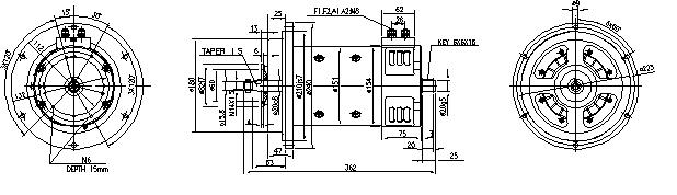 Электродвигатель AMP2607 (MM 140, 11.212.928, IMM302928) - схема