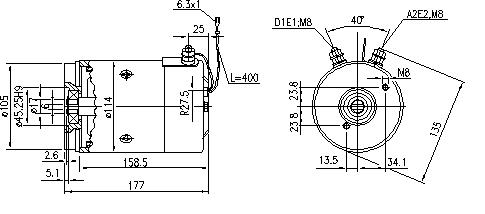 Электродвигатель AMJ5272 (MM 192, 11.212.957, IMM302957) - схема