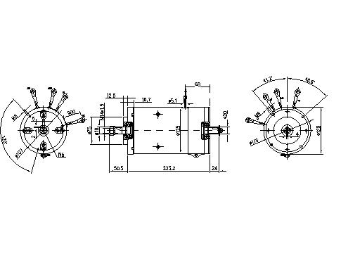 Электродвигатель AMK4605 (MM 91, 11.214.107, IMM304107) - схема
