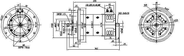 Электродвигатель AMP4320 (MM 92, 11.214.200, IMM304200) - схема
