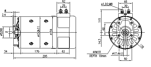 Электродвигатель AMP4659 (MM 82, 11.214.232, IMM304232) - схема