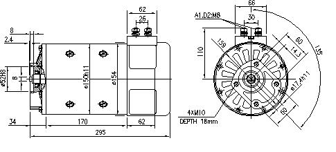 Электродвигатель AMP4660 (MM 309, 11.214.233, IMM304233) - схема
