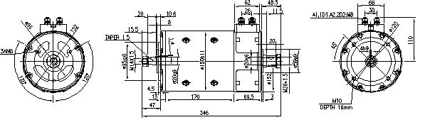 Электродвигатель AMP4640 (MM 81, 11.214.235, IMM304235) - схема