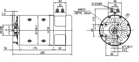 Электродвигатель AMP4664 (MM 111, 11.214.240, IMM304240) - схема