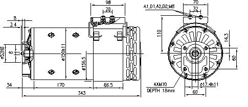 Электродвигатель AMP4643 (MM 211, 11.214.254, IMM304254) - схема