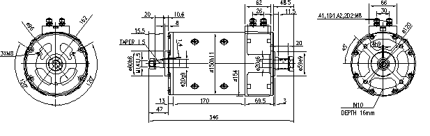 Электродвигатель AMP4311 (MM 210, 11.214.261, IMM304261) - схема