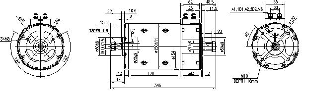 Электродвигатель AMP4666 (MM 66, 11.214.262, IMM304262) - схема