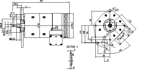 Электродвигатель AMP4646 (MM 164, 11.214.270, IMM304270) - схема